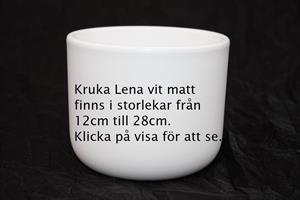 Kruka Lena vit matt olika storlekar