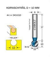 Kornischfräs R=5 D=10 L=10 S=8
