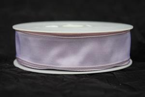 Band 25 mm 25 m/r taft lavendel med tråd