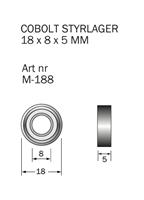 M-188 Kullager 18 x 8 x 5 mm