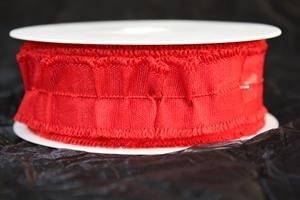 Band dekoration bomull röd 35 mm 18 m/r