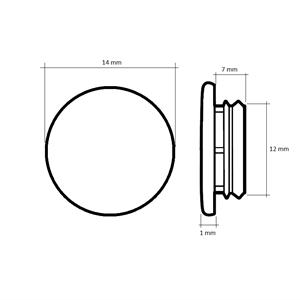 Karmplugg 12 mm Transparent - 16 stk