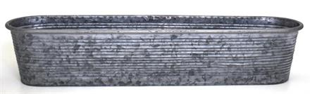 Balkonglåda zink Rand 70x15cm H13cm