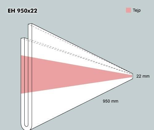 Etiketth. EH 950-22F rak tejp