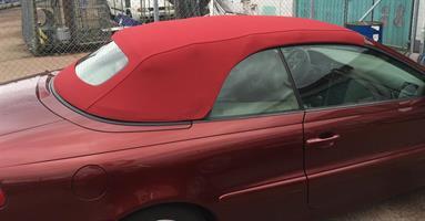 Sufflett Volvo C70 röd tyg