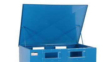 Lock till bottentömmande container. 1800L