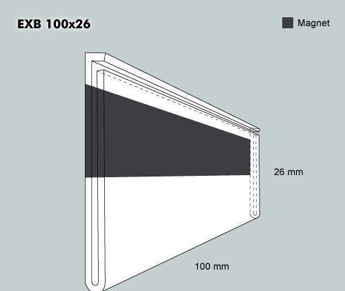 Etiketth. EXB 100-26F rak magn