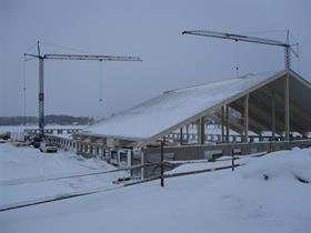 Lagårdsbygge i 25 minus, Sörbnäs, Kumla