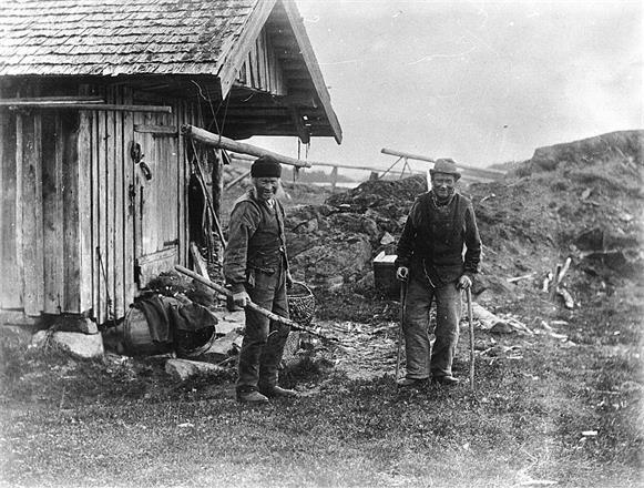 Gubbarna på Andra skäret - Ornöskäret, Huvudskär ca 1900