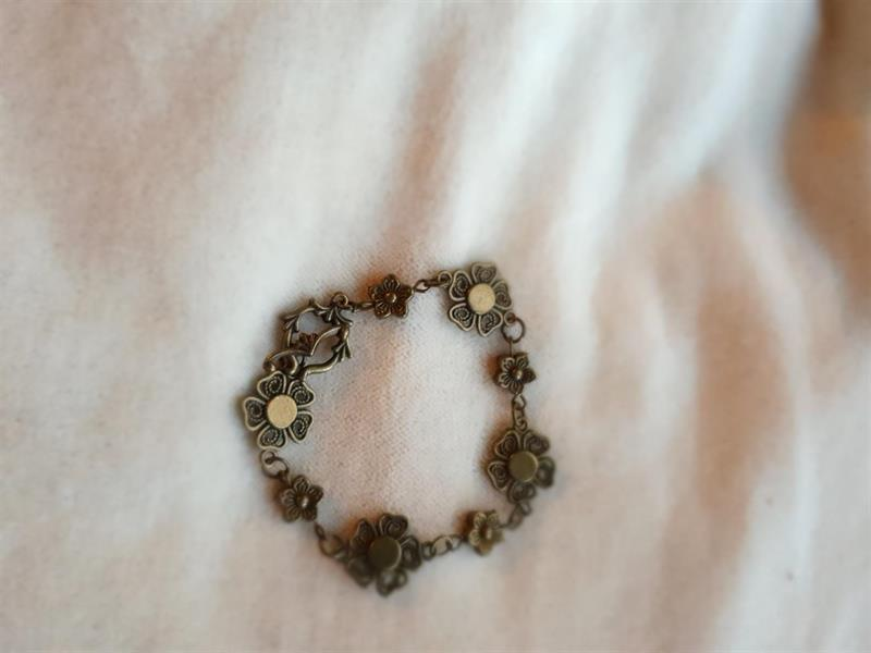 "Armband ""Brons Flower"""
