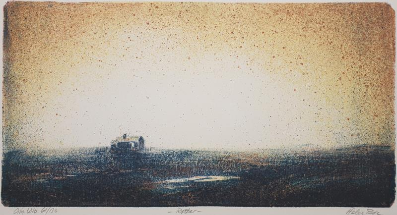 """ Røtter "" litografi 18 x 36 cm."