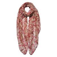 Blommig scarf, rosa/beige