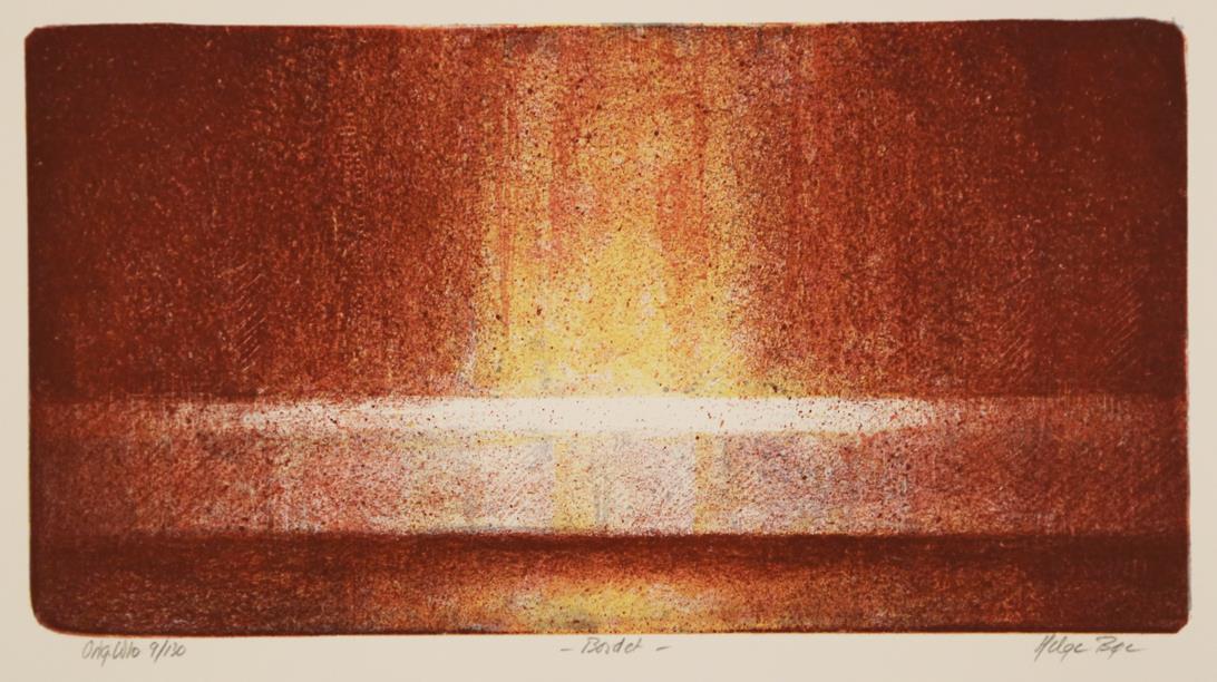 """"""" Bordet """" litografi 50 x 35 cm."""