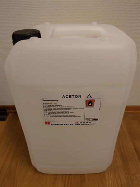 Aceton 25 liter Kanne