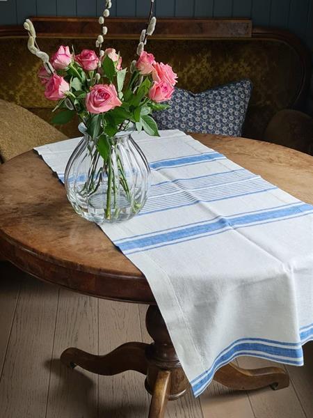 ODA bordløper i lin blå
