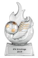 Fotboll m. flamma