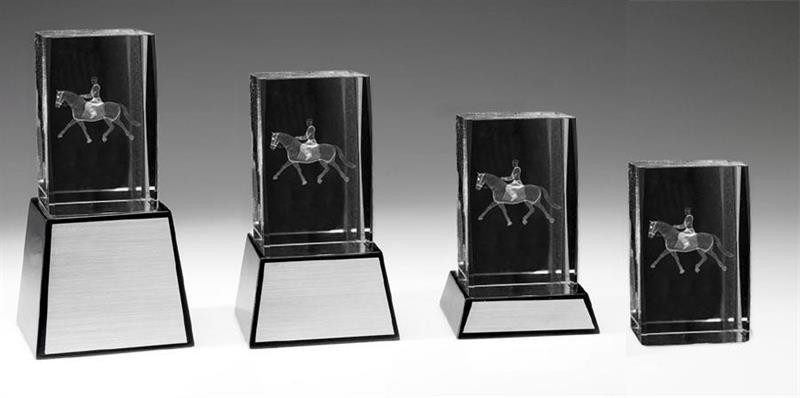 3D Glas Häst Dressyr