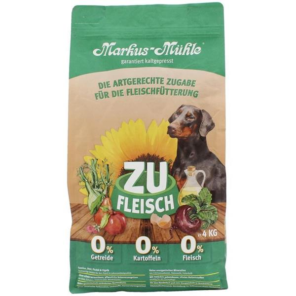 Markus-Mühle Zufleisch kaldpresset hundefôr  4 kg