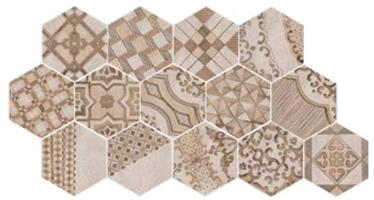 28,00€/m2 Clays Decoro 6-kulmainen 21,0 x 18,2