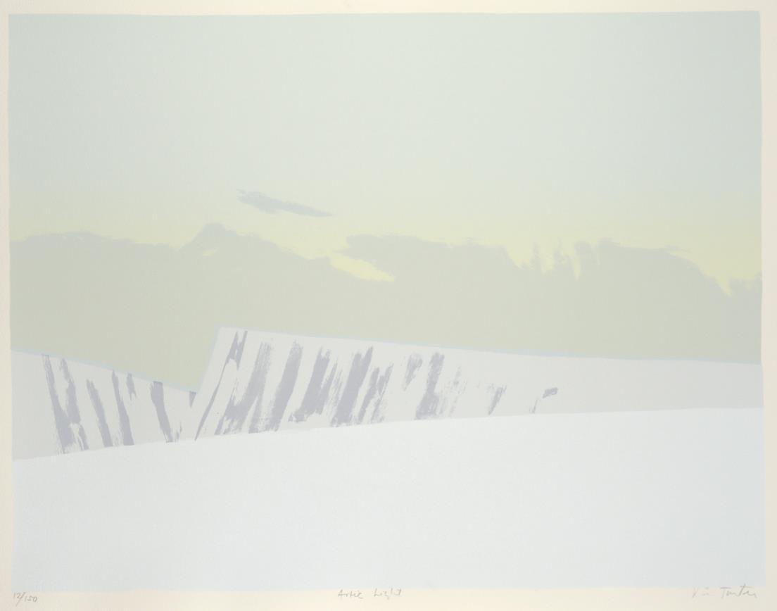 """Artic Light"", litografi, 43,5 x 56,5 cm."