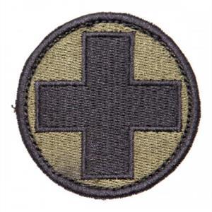 Medic patch W Velcro green/black