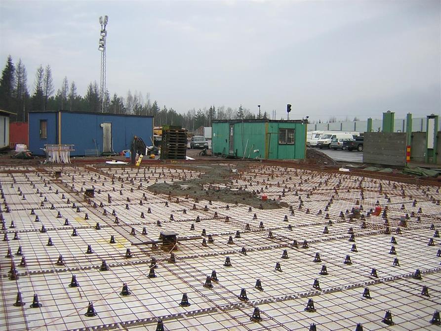 Plattan till en industribyggnad i Oskarshamn