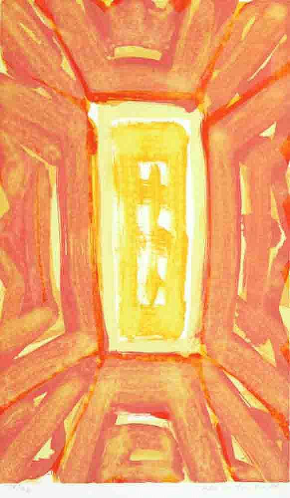 """Ikon"" litografi, 45,5 x 37,5 cm."
