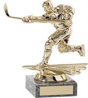 Hockeyspelare slagskott