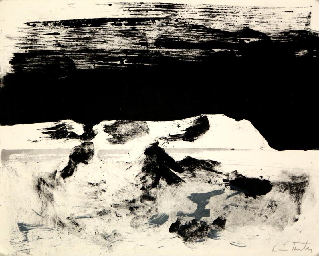 """""""Midtsommernatt"""", litografi, 23,5 x 30 cm., fra mappen Flak av lyset"""