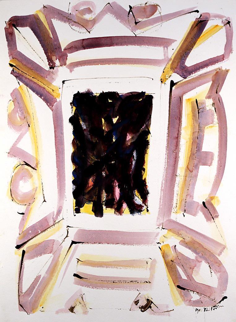 """Ikon"", akvarell 72 x 50 cm."