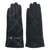 Handske svart rutig