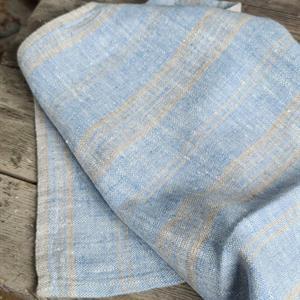 NICOLINE håndkle blå og natur