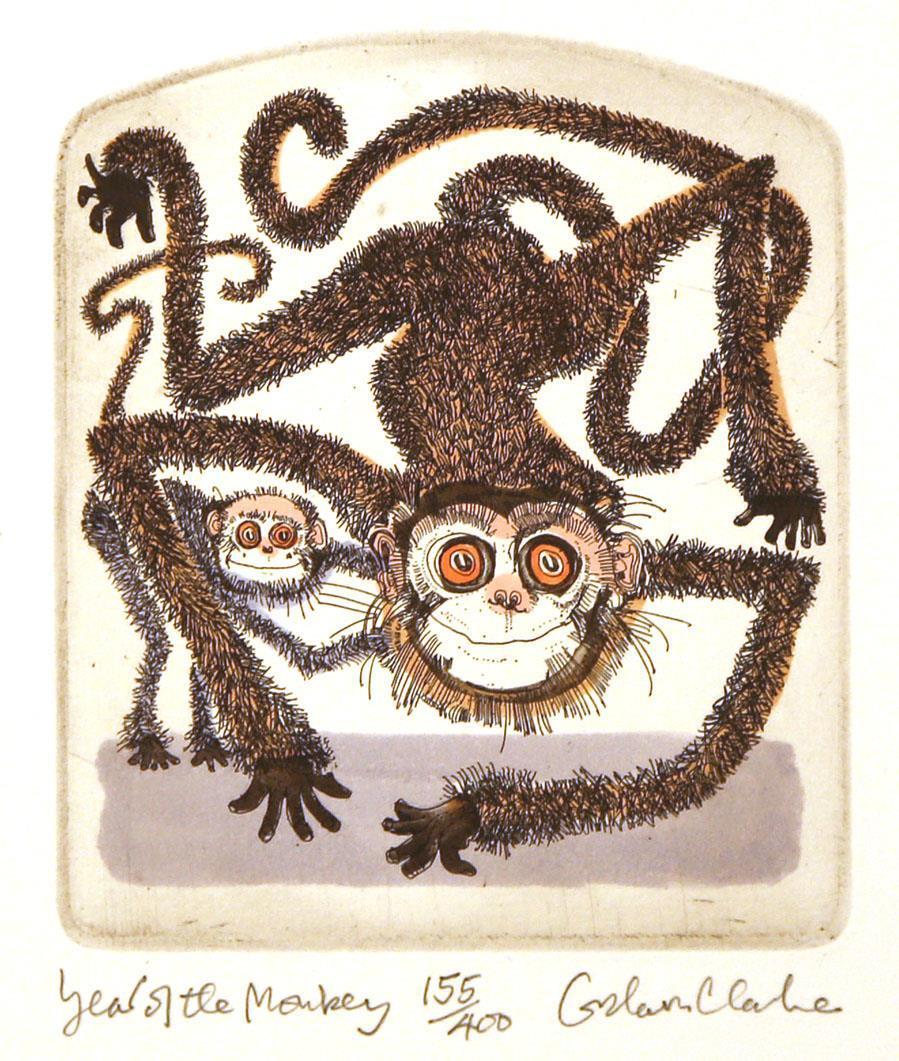 Year of the Monkey, 12,5 x 10,7 cm.