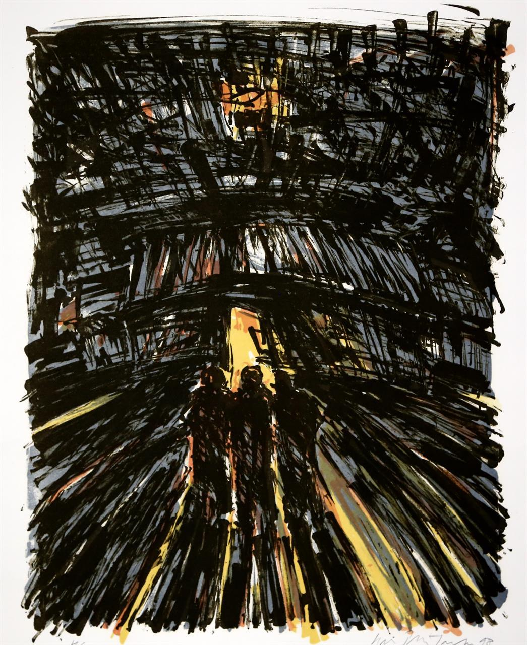 """Lyset"", litografi 40 x 31 cm."