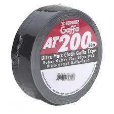 Ilmastointiteippi Gaffa 50x50 musta