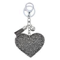 Nyckering hjärta bling grå 2