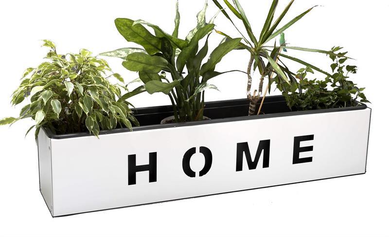 Home blomlåda 80cm - vit
