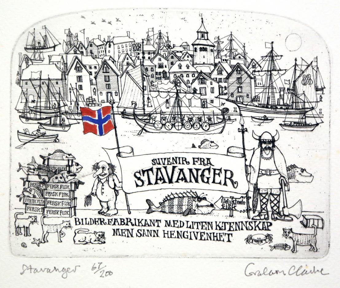 Stavanger, 13,5 x 17,3 cm.