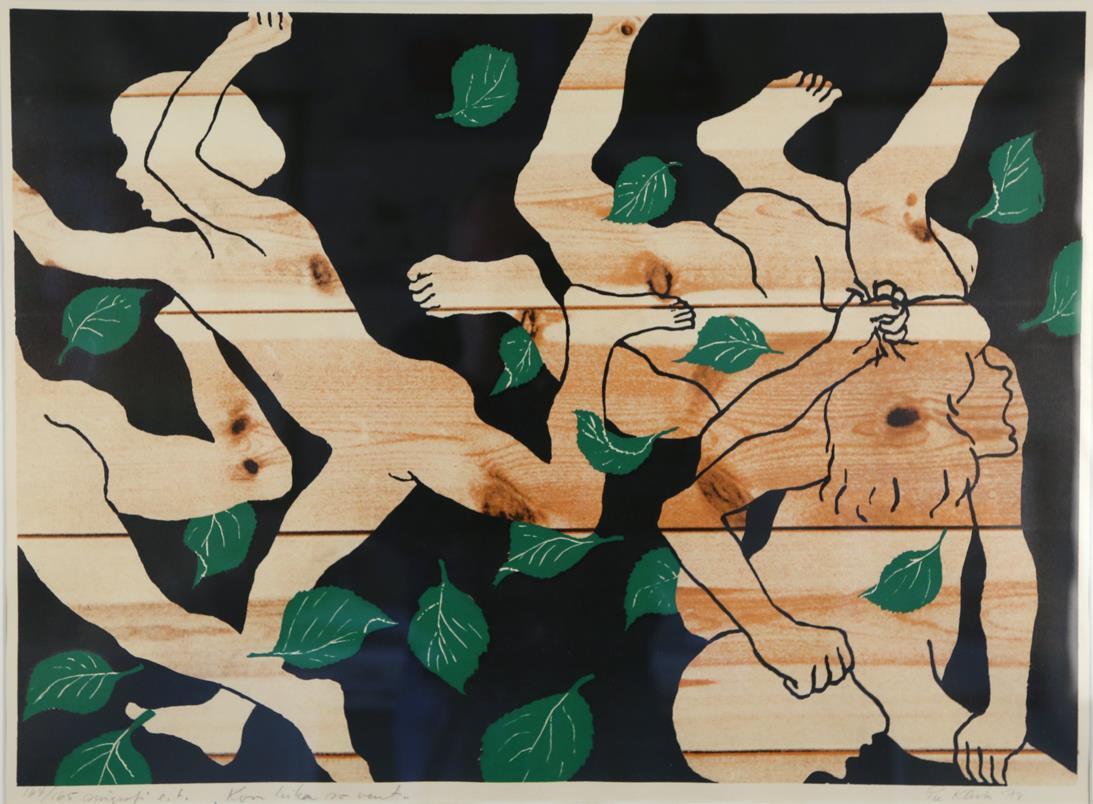 """""""Kven leikar so vent"""" serigrafi 164/165, 1978, 46,5 x 64 cm."""