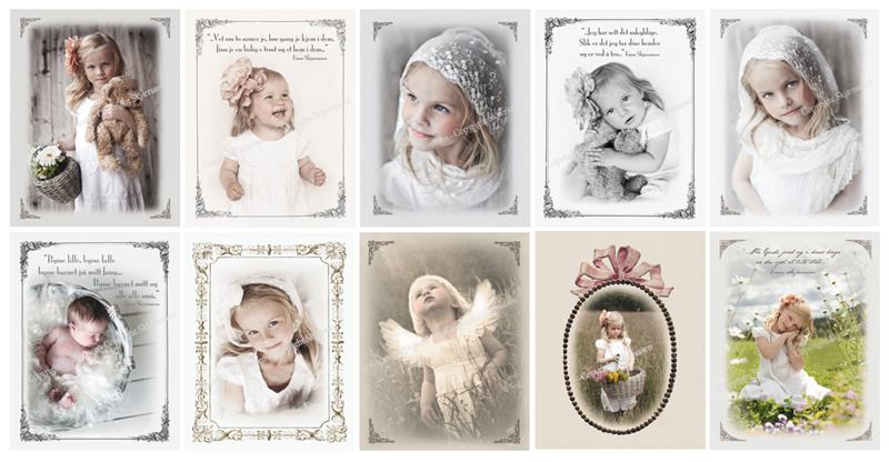 10 Assorterte postkort 10x13 cm