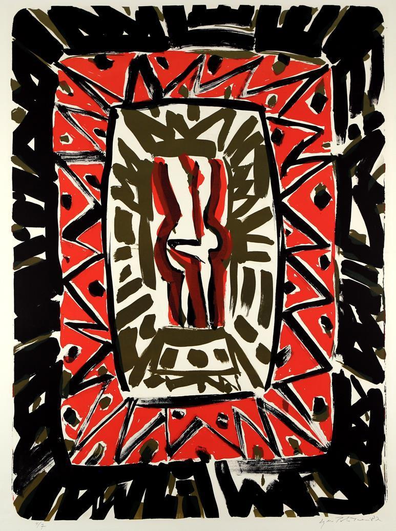 """Ikon"", litografi 4/7, 73 x 52 cm."