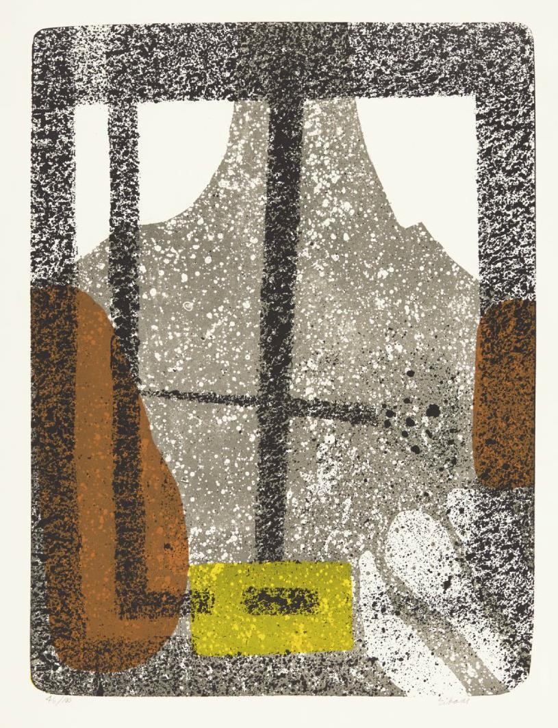 """Sommervindu"", litografi 46/100, 64 x 48 cm."
