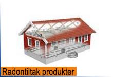 Produkter for beskyttelse av bygg mot radon