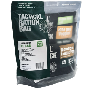 Tactical Foodpack 3 Meal Ration Vegan