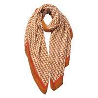 Plisserad mönstrad scarf