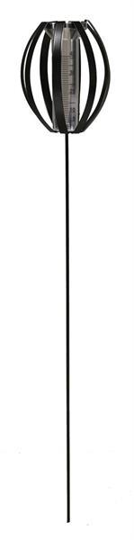 Ovalia regnmätare - svart