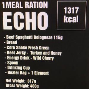 Tactical Foodpack 1 Meal Ration Echo