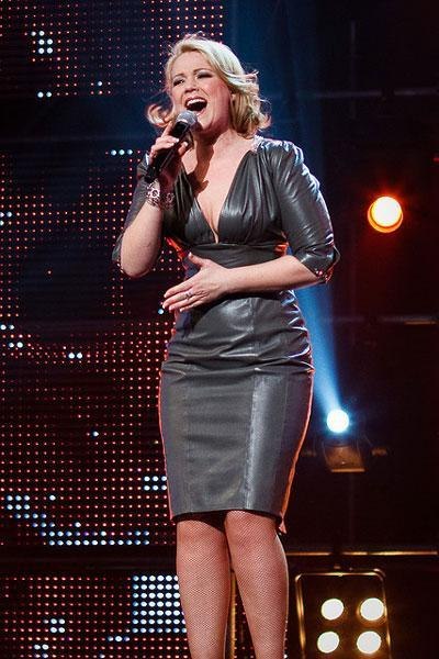 Norwegian Eurovision - Dress designed and made for the singer; Maria Haukaas Mittet