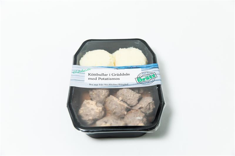 Köttbullar med potatismos och gräddsås