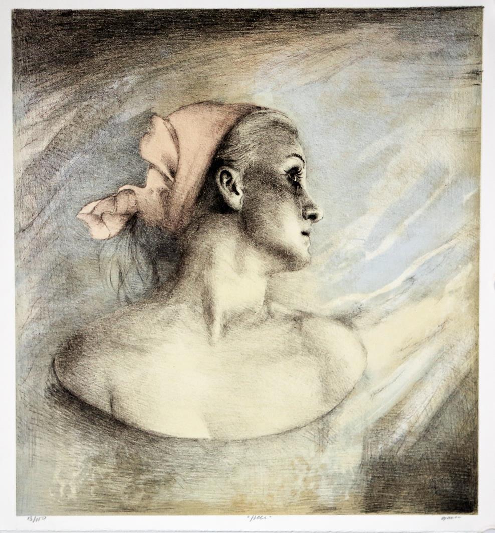 Fjell, litografi 49 x 45 cm.